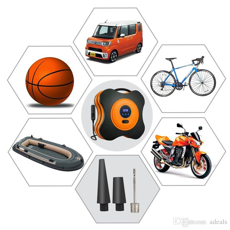 Bomba de compressor de ar, inflador de pneus de auto auto de 12V DC para carro, caminhão, bicicleta, RV e outros infláveis com luz LED