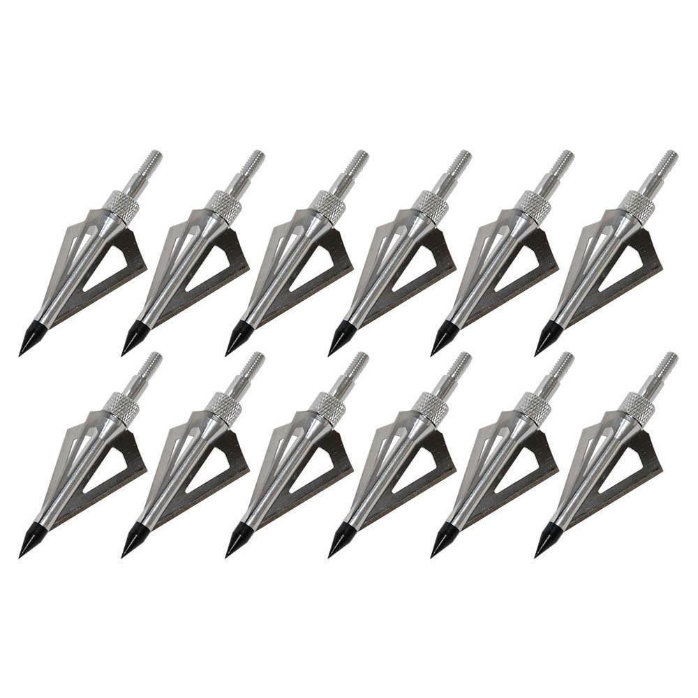 3 fijo de la lámina acero y aluminio Puntas de flecha de tiro con arco 100 Grano punta de flecha Flecha Caza Consejos para tiro con arco Arcos