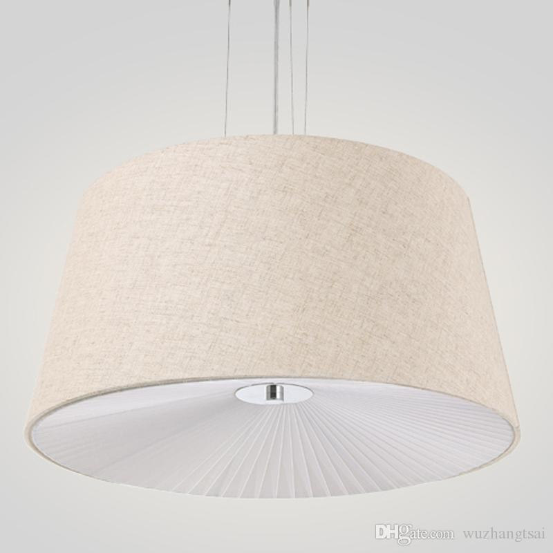 fabric pendant lighting. Fabric Cloth Cover Pendant Lights Rural Modern Suspended Hanging Light Sitting Reading Living Dining Room Lamp Industrial Lighting DHgate.com