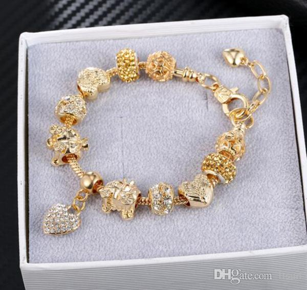 cheap but good alloy jewelry bracelets,heart charms for bracelets,prong setting diamond jewelry charms hand chain