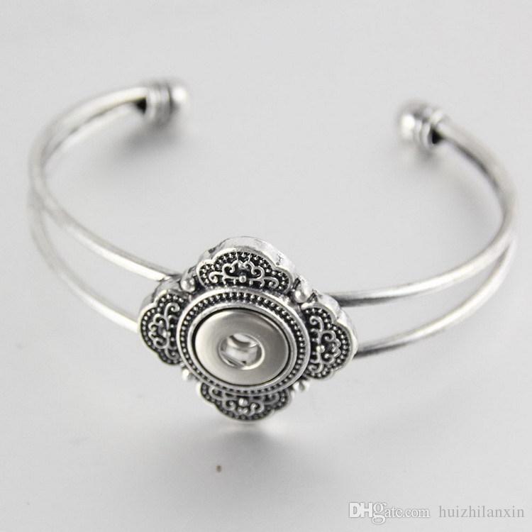 bouton argent bouton pression bijoux bracelet ajustement 18mm alliage gingembre boutons boutons pression
