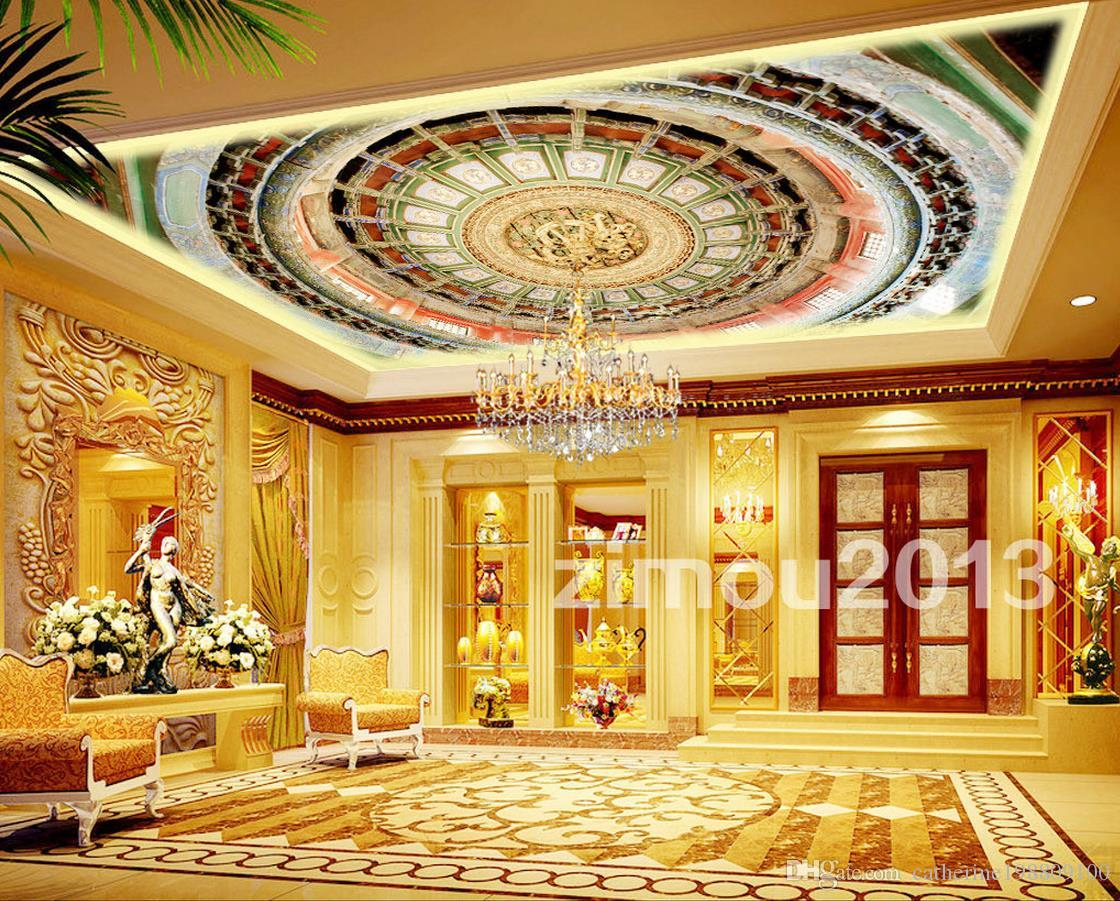 European Luxury Classical Three Dimensional Roof Of The Ceiling Art ...