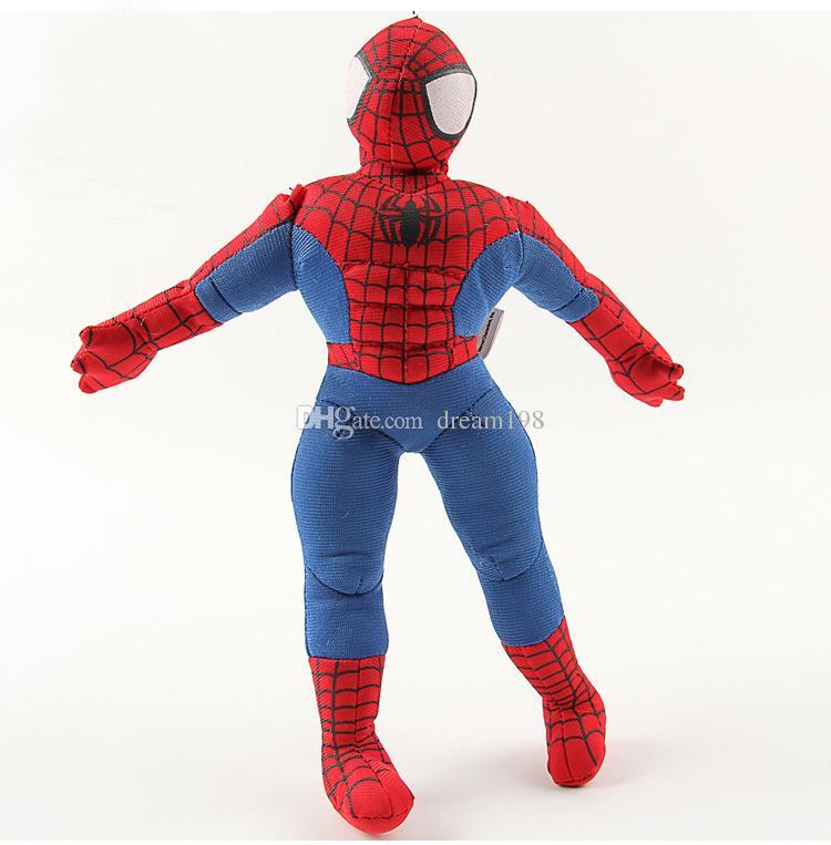 Novos Os Vingadores Homem-Aranha Superman De Pelúcia Boneca De Pelúcia Brinquedo Para A Criança Presentes 10 pçs / lote / Tamanho: 9.5