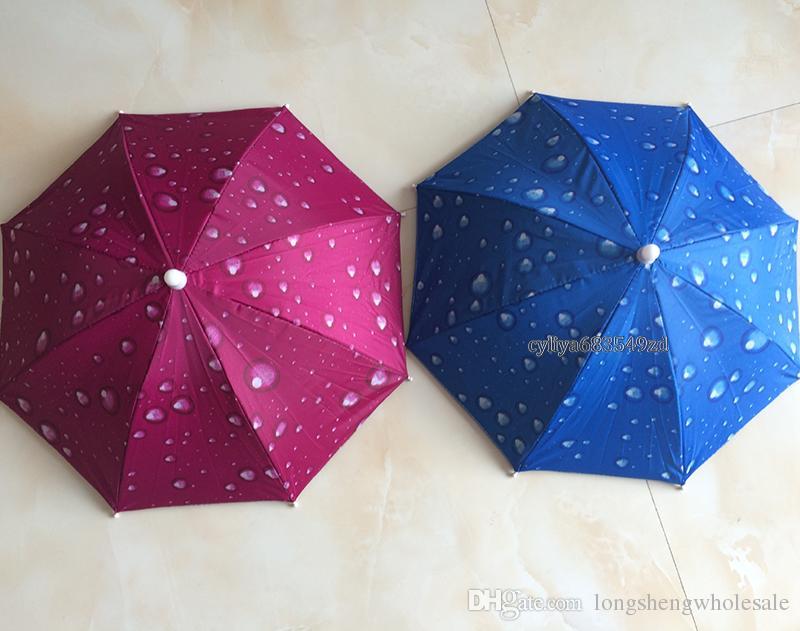 Mode Chaud Utile Parapluie Chapeau Soleil Ombre Camping Pêche Randonnée Festivals En Plein Air Brolly