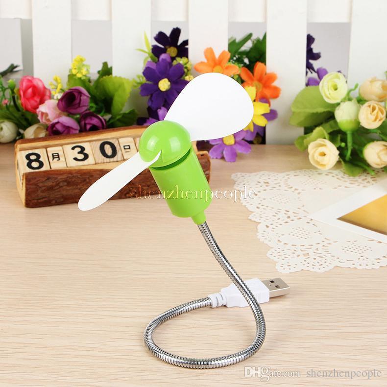 Flexible USB Mini Cooling Fan Cooler For Laptop Desktop PC Computer Black Color High Quality