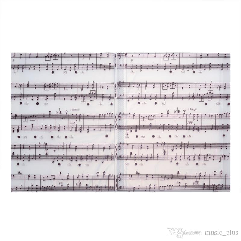 Music Sheet File Paper Documents Storage Folder Holder Plastic A4 Size 40 Pockets