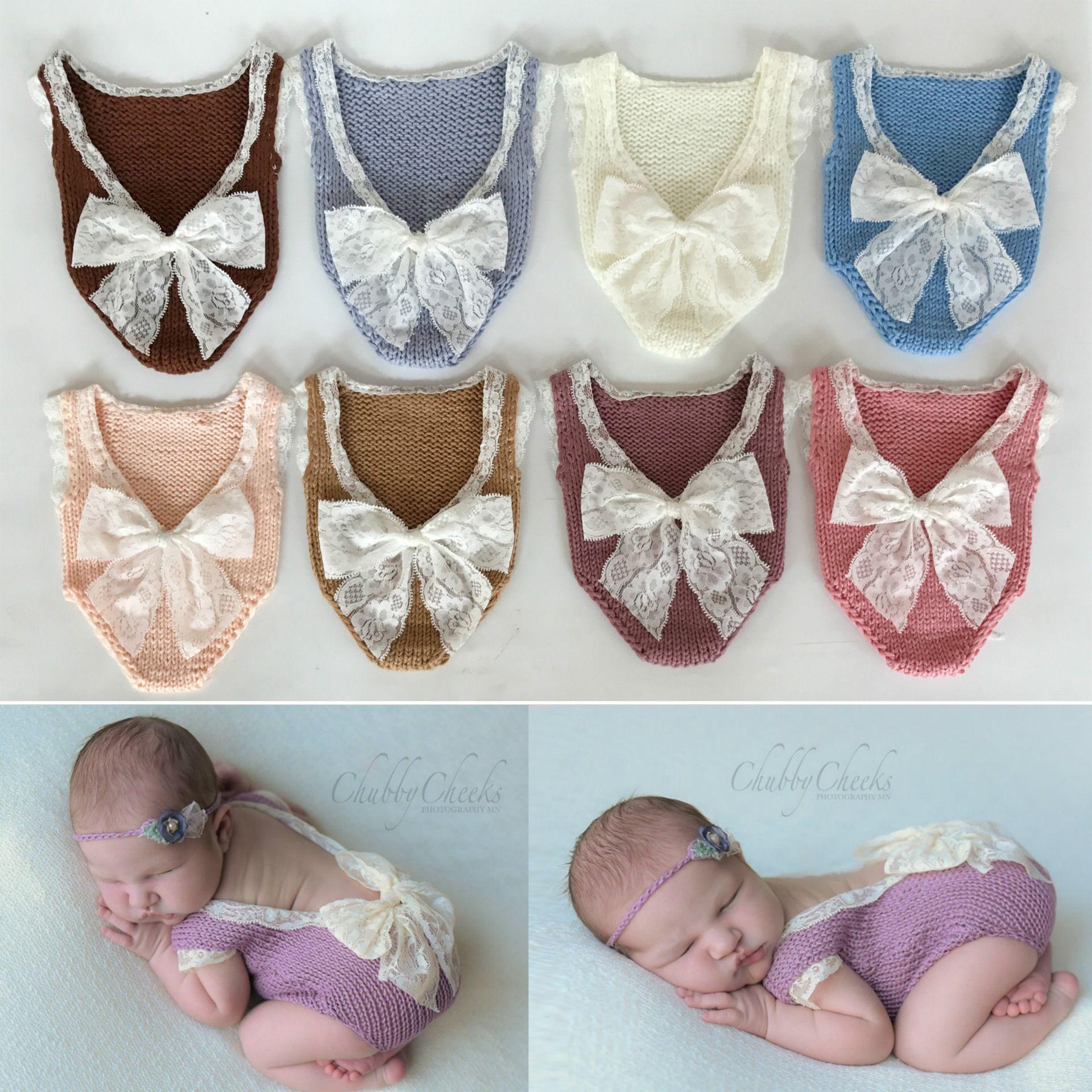 Großhandel Neugeborenes Handgemachtes Häkelarbeitkleid Kleidet ...