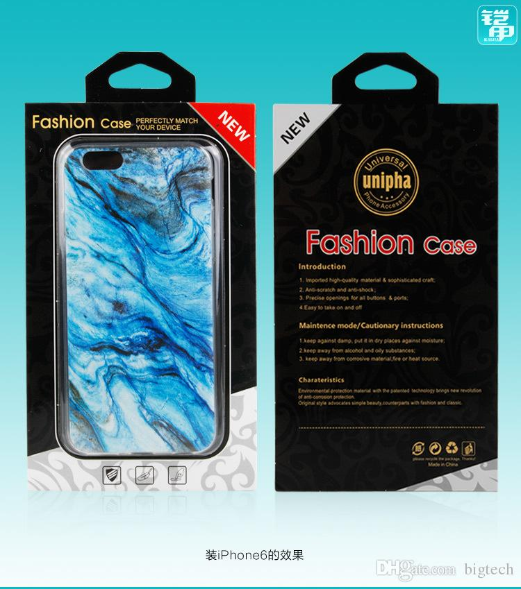 wholesale Mobile Phone Case Black Cardboard Packaging Box for iphone 7 7plus Plastic PVC Blister Package