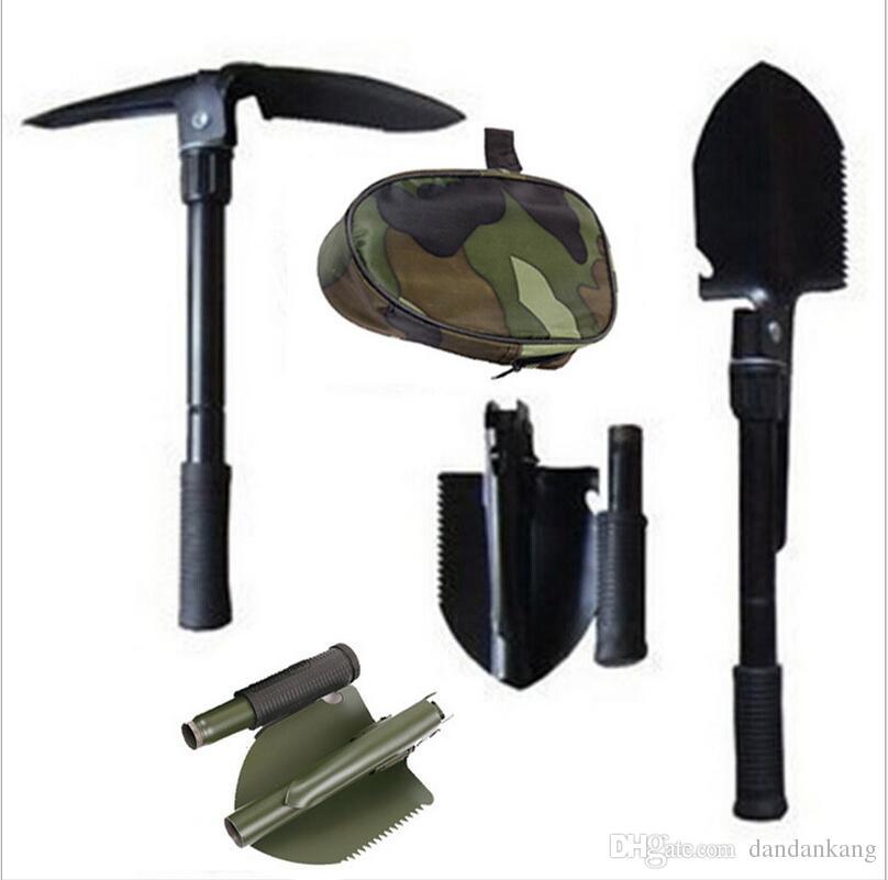 Mini-Multifunktions-Klappschaufel-Überlebens-Trowel Dibble-Auswahl-Außennotrettungs-Rettung Spaten Praktisches wanderndes Camping-Gerät-Werkzeug