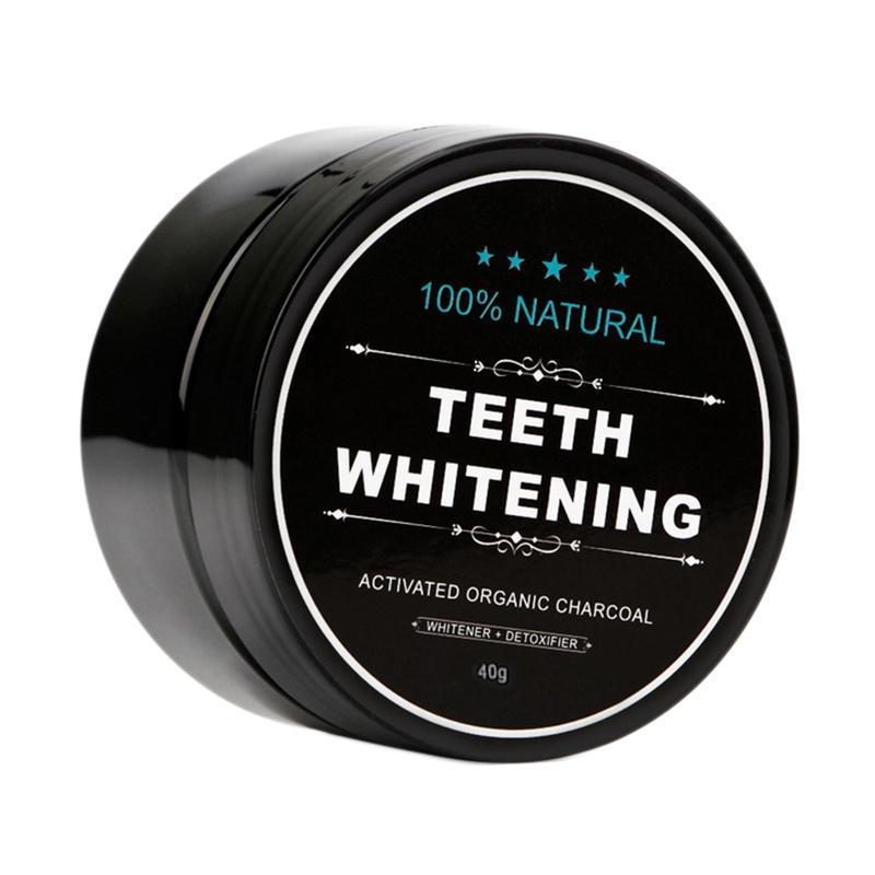 Dentes grau alimentício carvão em pó dentes branqueamento produtos dentes de limpeza com carvão ativado Preto carvão em pó