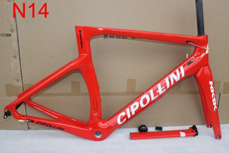 Altın renk NK1K Karbon Yol Çerçeve bisiklet karbon çerçeve 3 K tam karbon bisiklet çerçeve çatal + seatpost + kelepçe + kulaklık ile Ücretsiz gemi