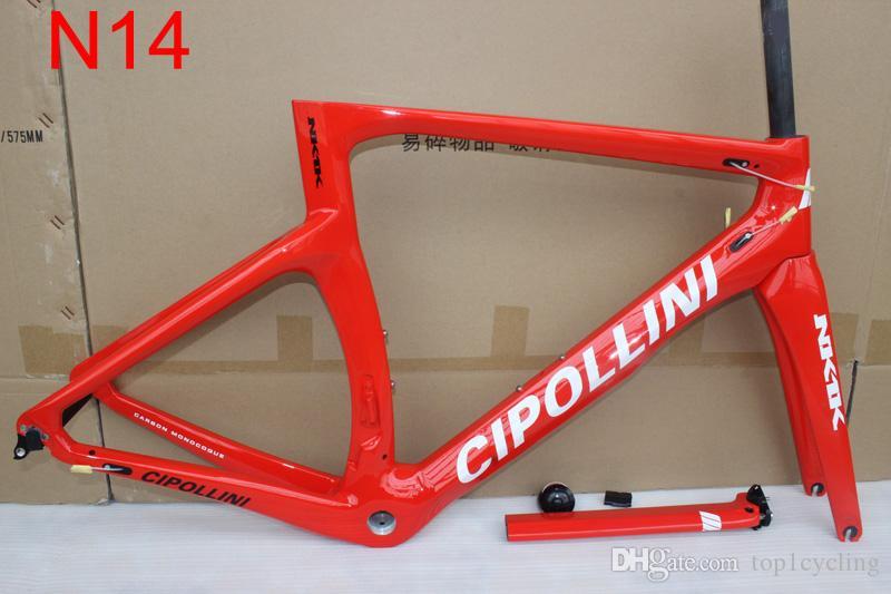 Color de oro NK1K Marco de carretera de carbono Marco de carbono 3K Marco de bicicleta de carbono completo con horquilla + Sillín + Abrazadera + Auriculares Free Ship