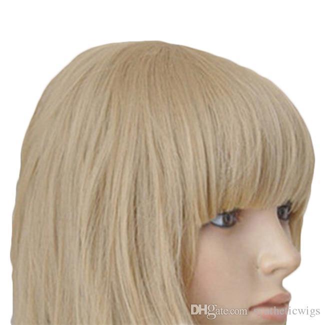 WoodFestival mulheres bob peruca loira encaracolado peruca com franja peruca de linho cabelo curto perucas resistente ao calor fibra sintética perucas baratas