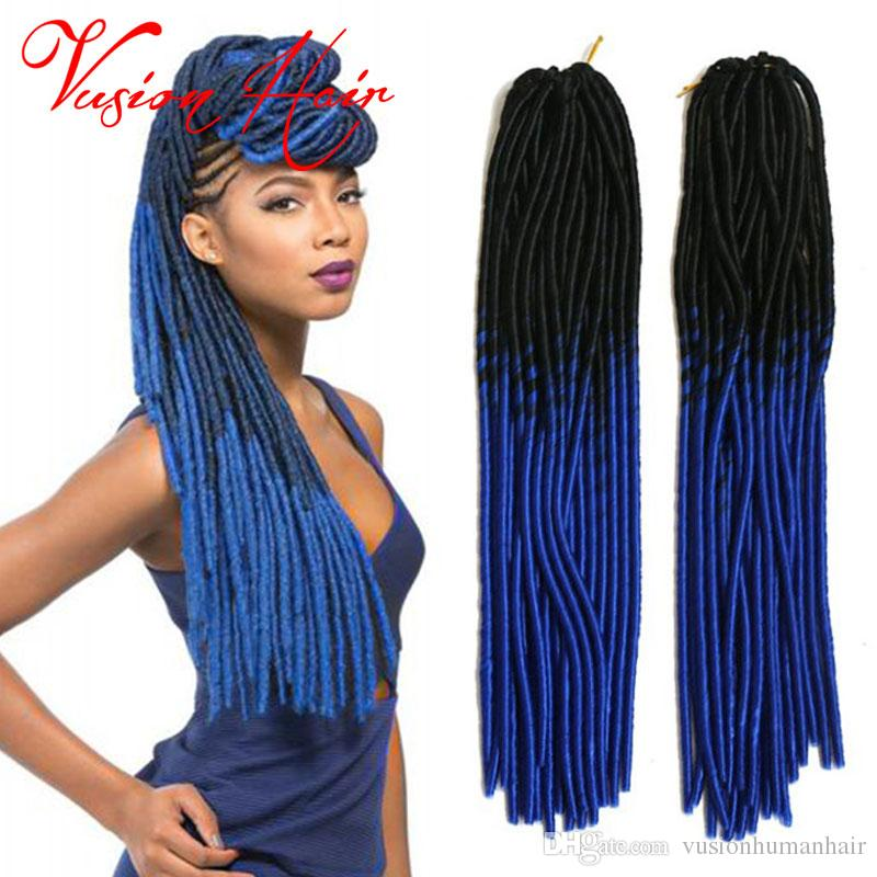 Goddess Faux Locs Crochet Hair Dreadlock Extensions 20inches 20roots