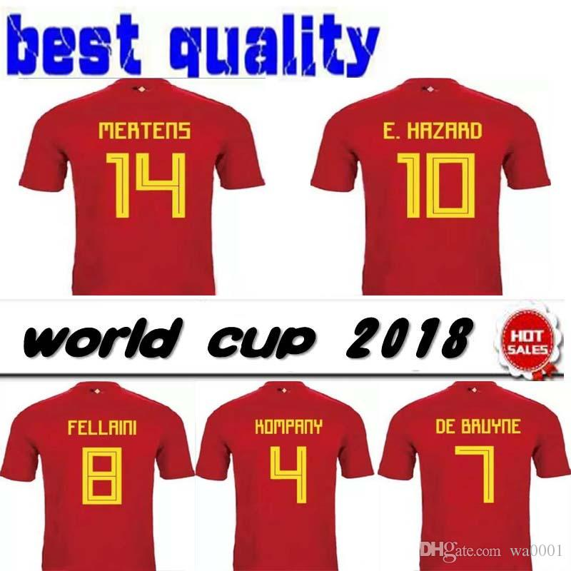 3932cd2c359 2018 Belgium World Cup Soccer Jersey LUKAKU FELLAINI E HAZARD ...