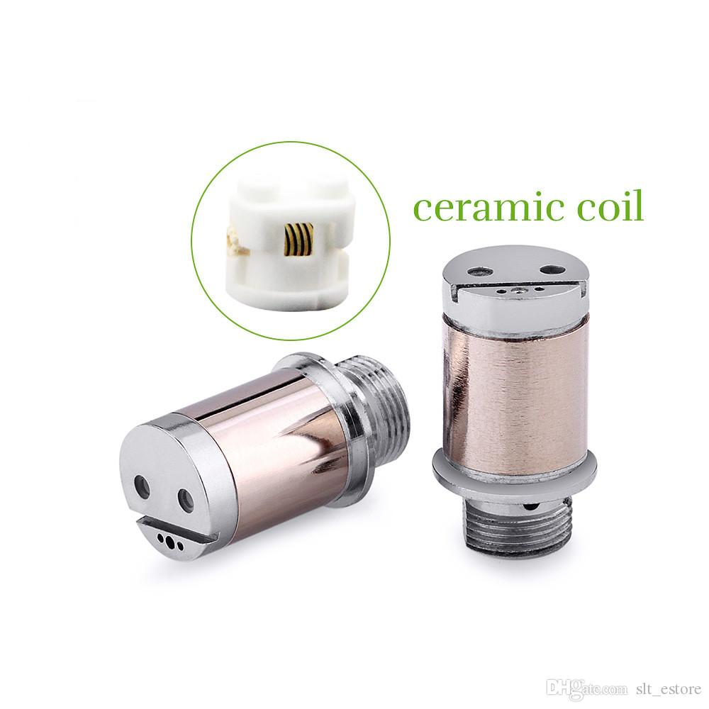 Toptan seramik bobin kartuşları tek kullanımlık vape kalem A4 fitil atomizer ile 0.5 / 1 ml plastik tankı atomizer