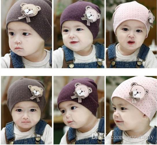 2017 Newborn Cute Baby Hat photography props Infant Toddler Girl Boy Baby Cap Cute Polka Dot Beanie Cotton Hat