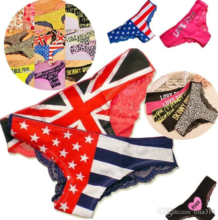 6eef54dfb680b6 2019 Newest Fashion Flag Detonation Model The American Flag Lace Panties  Sexy Women'S Underwear Girls Panties B2764 From Tina314, $2.03 | DHgate.Com