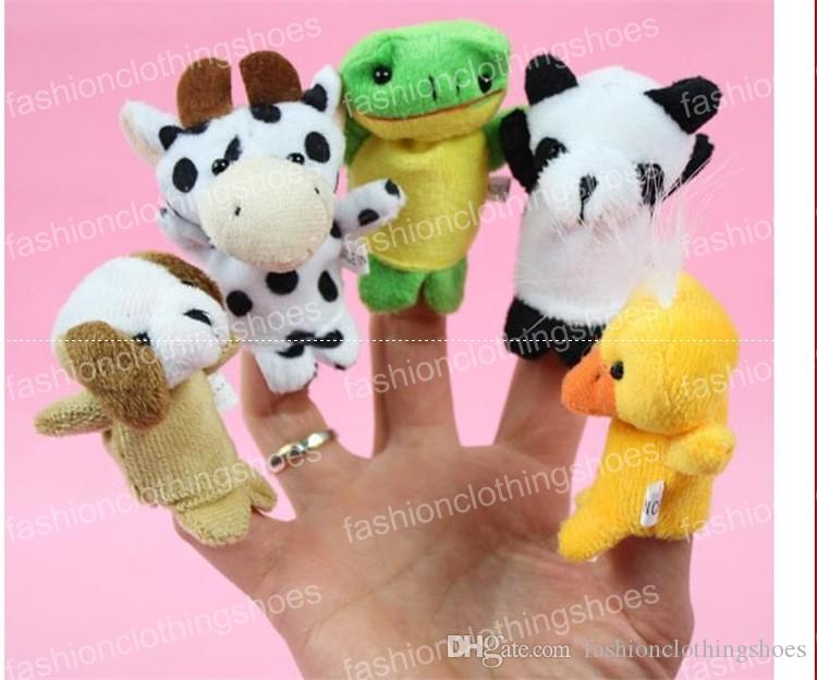 Büyük indirim! Ekspres Parmak Bebek Çocuk İçin Kuklalar Peluş Oyuncak Konuşan Dikmeler 10 Farklı Hayvanlar Seti Oyuncak