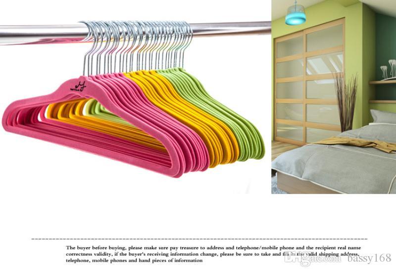 33cm Children Kids Baby Pets Non-slip MF Magic Hanger Thin Clothes Velvet Hangers Space Save Closet Storage Household Helper