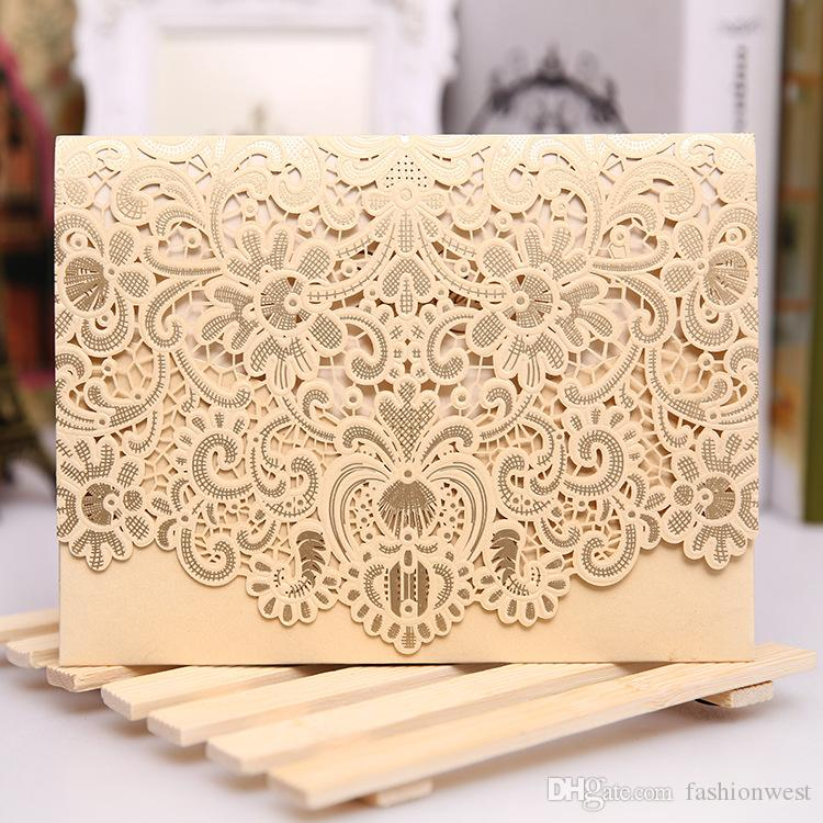 rsvp card laser cut wedding invitations set 2016 new patter laser cut lace wedding invitation envelope h30 wedding invitations cards engraved wedding - Cheap Wedding Invitations Sets