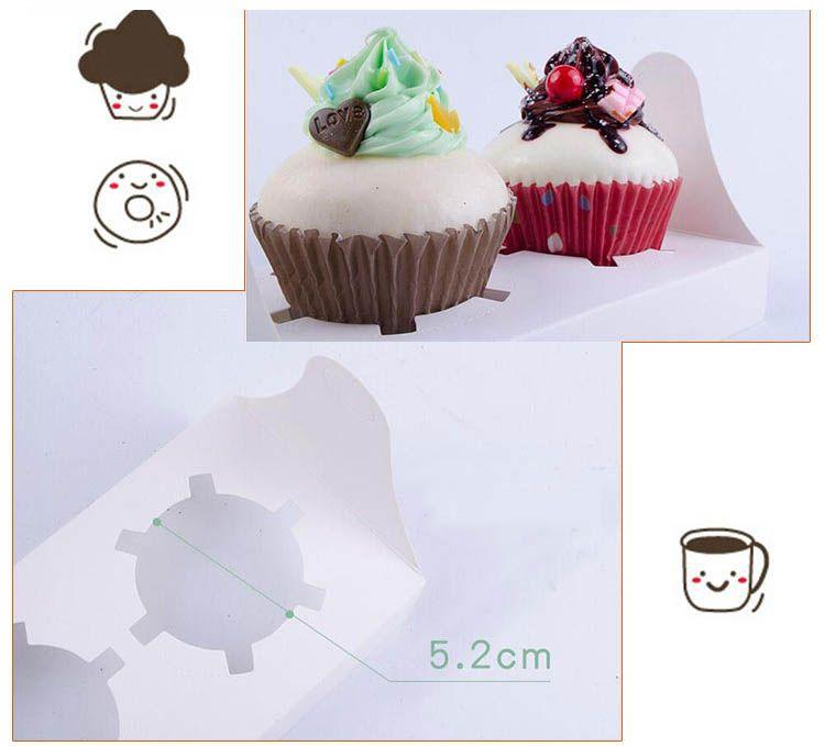 14.7x16.5x9.3cm scatole di cupcake del circo di Londra con maniglie di finestra grossisti imballaggio del regalo il partito di festival 2 portacandele di tazza