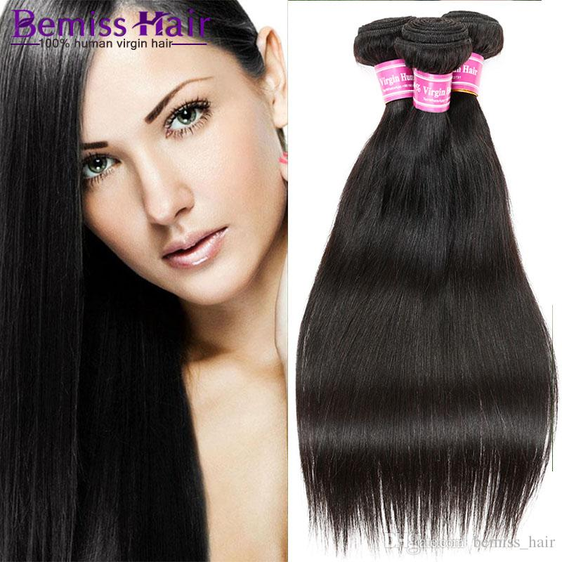Hot Sales Brazilian Human Hair Weave Peruvian Hair Extensions Straight  Natural Color Malaysian Women S Fashion Weaves Indian Remy Hair Weft  Extension Wefts ... 874e4826a1