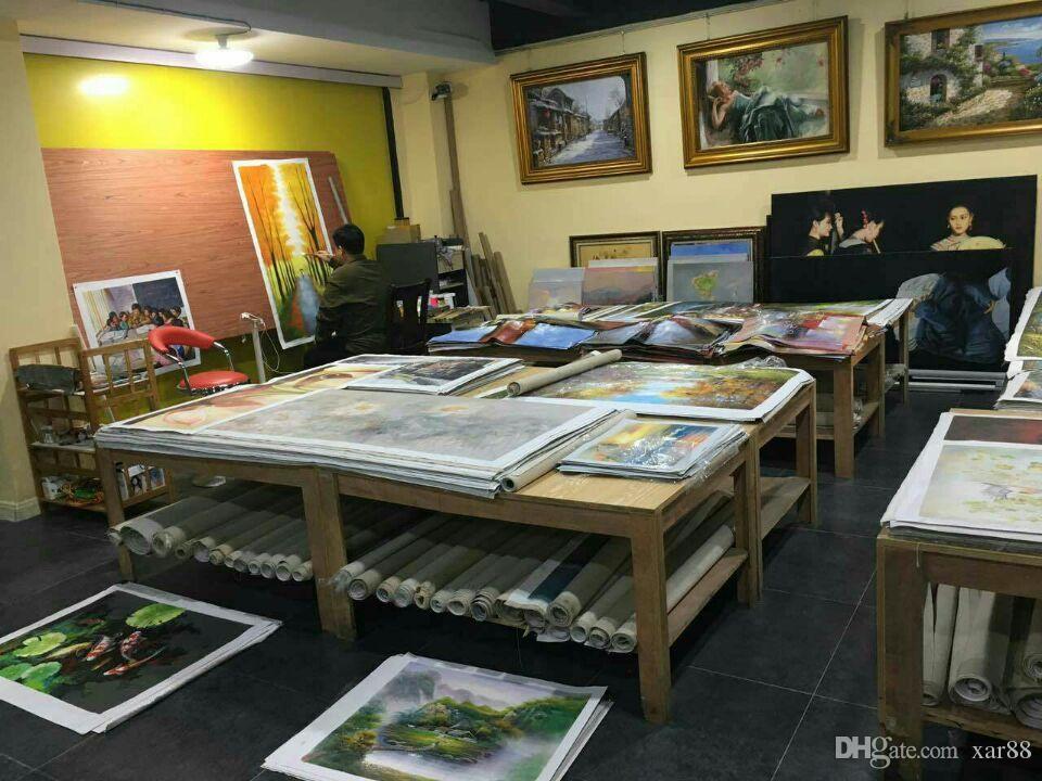 Spedizione gratuita, lotti all'ingrosso, z039 #, 100% artigianato arte pittura ad olio ritratto di Zhang Xiaogang, qualsiasi dimensione personalizzata accettata