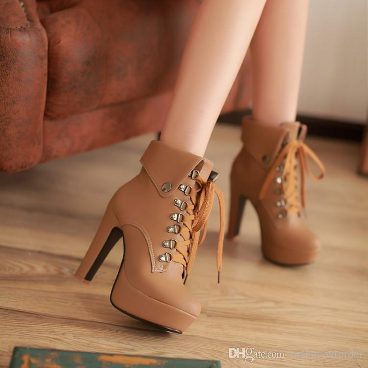 wholesaler free shipping new style factory price hot seller ankle women high heel platform Martin women lady boot 273