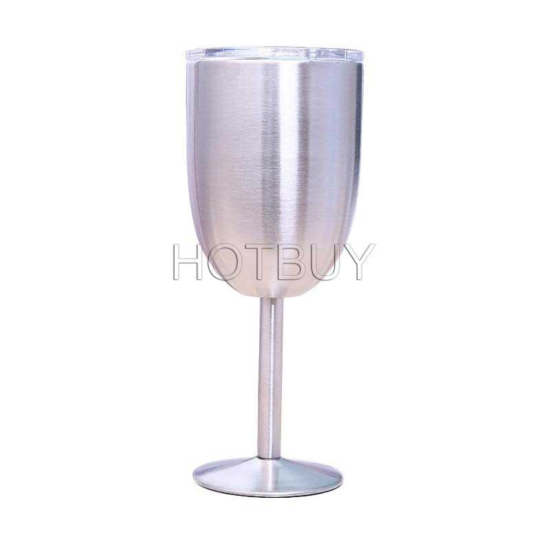 10oz Stainless Steel Wine Glass Double Wall Insulated Metal Goblet With Lid Metal Goblet Red Wine Mugs #4356