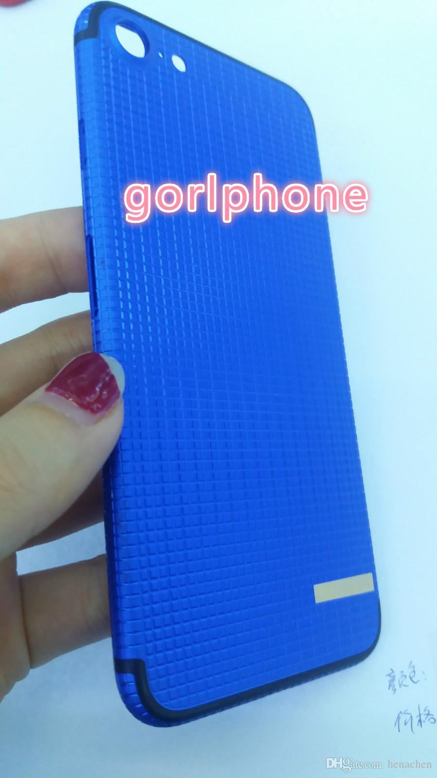 العلامه التجارية للهاتف المحمول الجديد لفون 7 مخصص عودة القضية الملونة باتن باريس تصميم ملون ل iphone7 زائد حالة الإسكان الباب الخلفي
