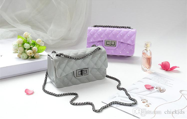 New Shoulder Bag Fashion Kids Messenger bags Kid Girl Purse Designer Candy Color Women Mini Jelly Bag Stylish Baby Products CK096