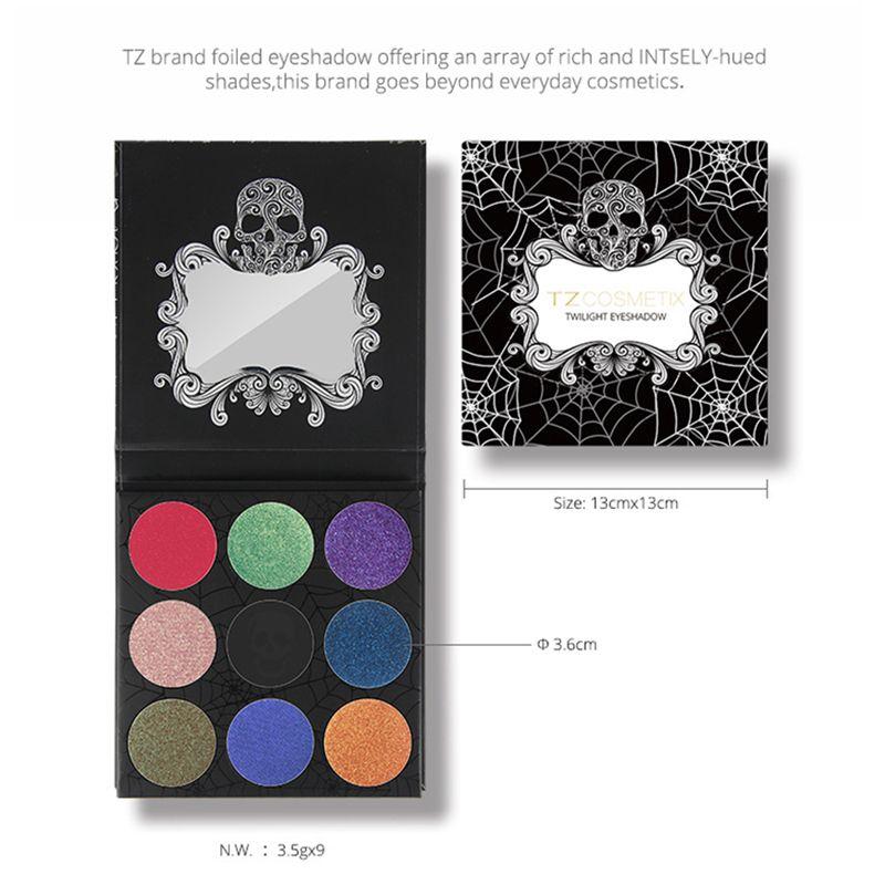 New TZ Cosmetix Twilight Eyeshadow Palette Matte Shimmer Diamond Foiled Colors Brand eye shades DHL