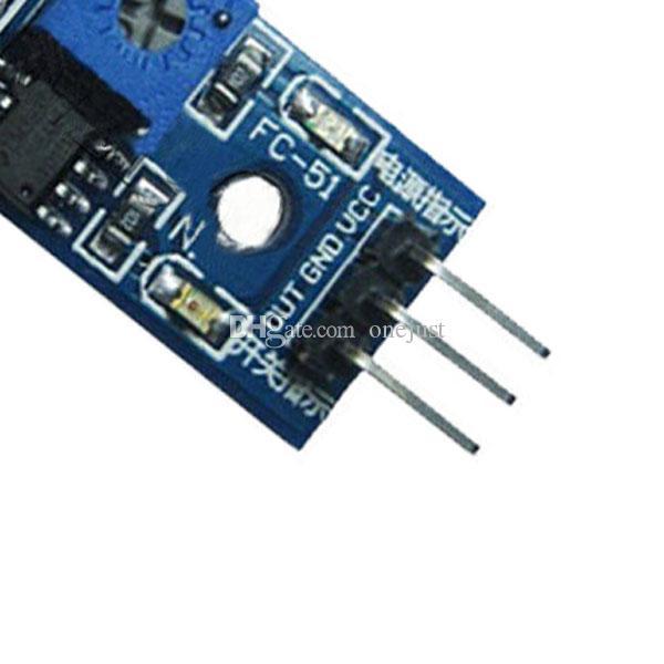 Modulo sensore di prevenzione agli ostacoli a infrarossi IR Arduino Smart Car Robot B00107 JUST