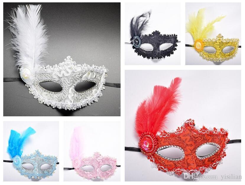 وصول جديدة خلاقة جديدة هالوين الدانتيل الأميرة الرقص قناع جلد ريشة قبعة صغيرة قناع PH035 مزيج النظام حسب احتياجاتك