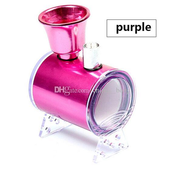 Mini hookah metal acrylic smoking pipe mini steam water pipe filter smoking oil quit smoking tobacco pipes