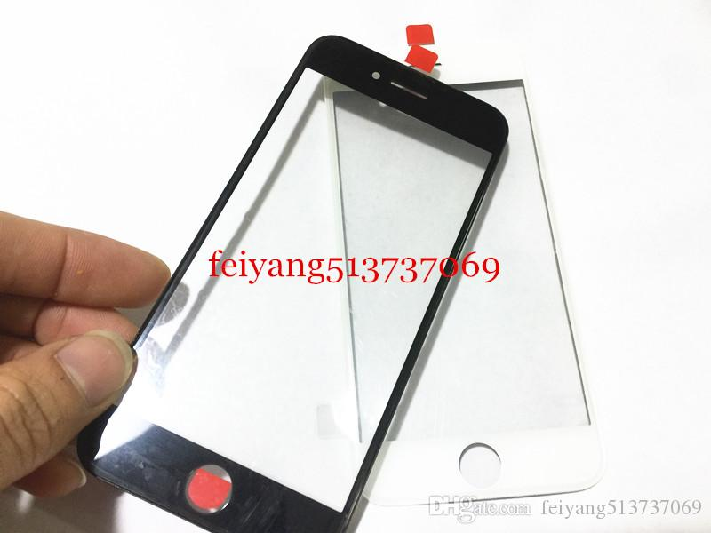 Original Cold Press 100% Front Touch Screen Panel Outer Glass Lens with Middle Frame Bezel Screen for iPhone 7 6 6s 6 plus 6s plus