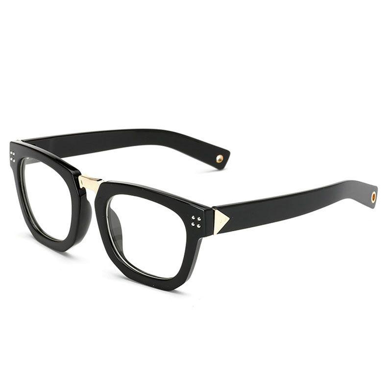 86bf503109 D.King Vintage Horn Rimmed Wide Arms Clear Lens Square Glasses Frame ...