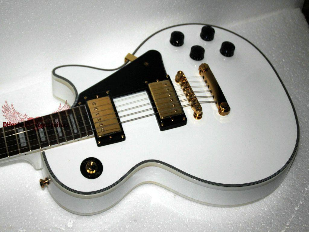wholesale guitar high quality custom shop white electric guitar gold hardware guitars online. Black Bedroom Furniture Sets. Home Design Ideas