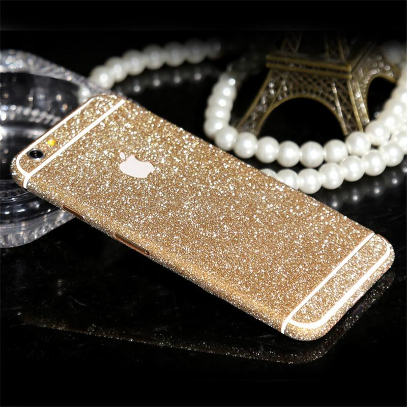 Luxury Diamond Glitter Ultra Thin Sticker For iPhone 6 6s 7 Plus 5S 5 SE Full Coverage Skin Decal Film Matte Case Cover