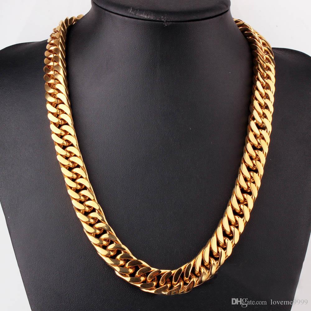 316L из нержавеющей стали мужские мальчики супер тяжелый серебряный черный золотой тон цепи Снаряженная кубинский ожерелье Оптовая мужчины подарок панк ювелирные изделия