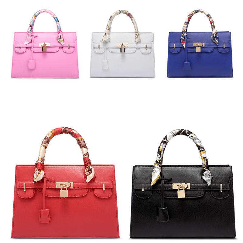 05e551bd52 Wholesale-2016 Fashion Pink blue Tote Bag Brand Luxury Handbags Women Bags  Designer Handbag with Scarf Lock Shoulder Messenger Bags Handbag Findings  Handbag ...