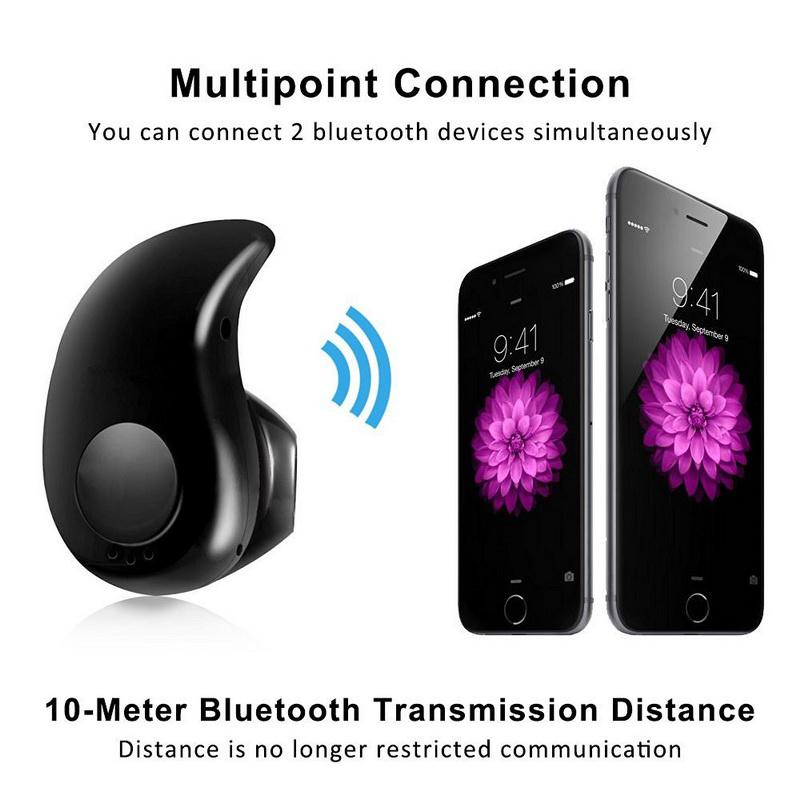 Earpiece Bluetooth Earphone Mini Wireless In Ear Cordless Hands-free Headphone Sport Stereo Auriculares Headset Earbuds Phone Consumer Electronics Bluetooth Earphones & Headphones