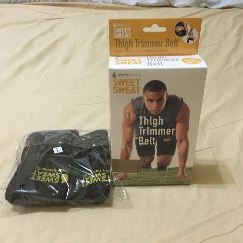 Sweet Sweat Women Men Cinturón ajustable para recortar Rodillera Muscle Leggings protectores Running Muslo Trimmer Cinturones Calentadores de piernas