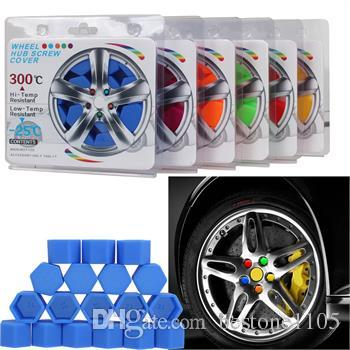 19mm Hex Wheel Lug Nut Protection Caps Noctilucent Silicone Wheel Screw Cover Fluorescent Rim Bolt Cap Car Styling Parts