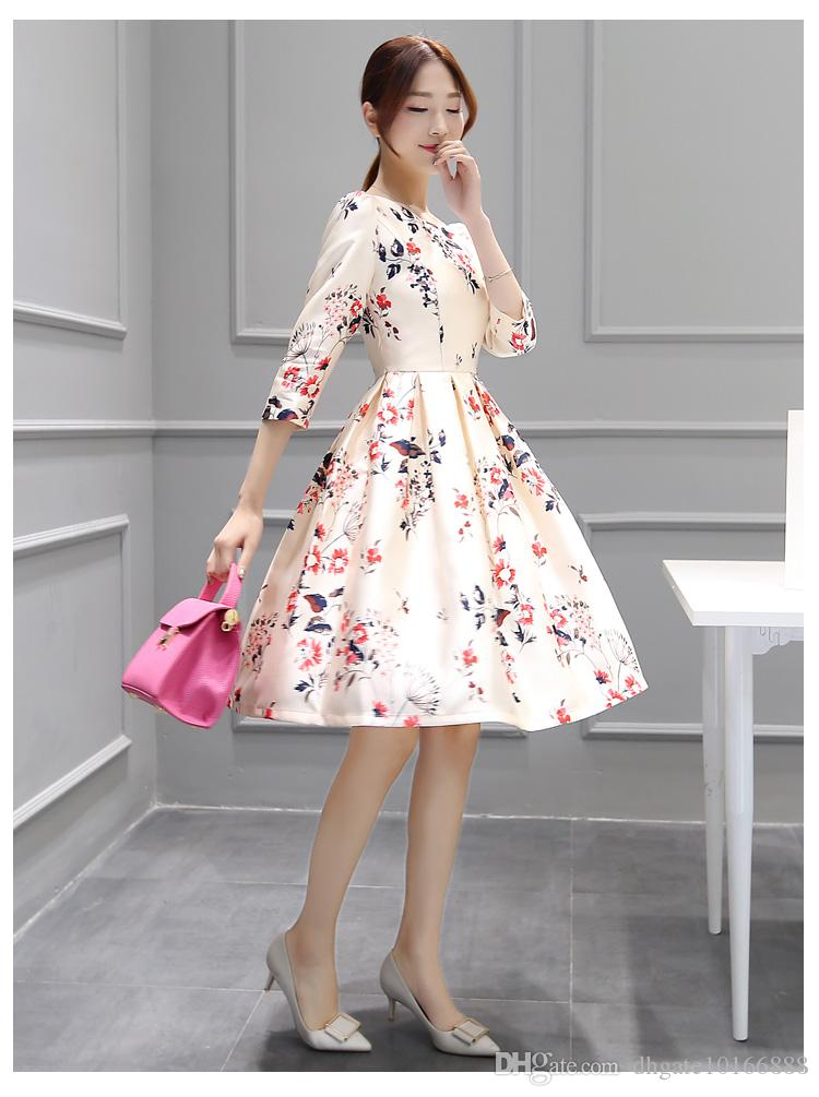 2017 summer new large size Korean version of the sleeves in the long paragraph dress fashion temperament ladies dress