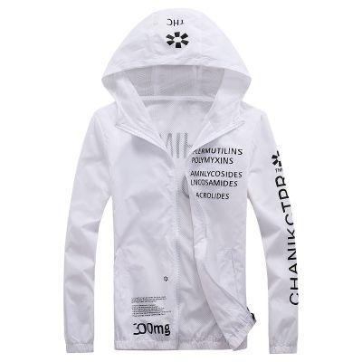 2018 Bahar Ince Rüzgarlık Kadın Erkek Ceketler Spor Ceket Mektuplar Baskılı Uzun Kollu Kapşonlu Palto Spor Giyim Giyim