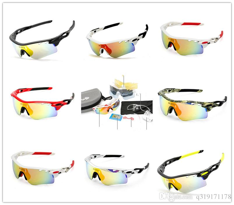 466226497f Hot Style! 5 Lens Cycling Glasses Sunglasses Men Polarized Lens ...