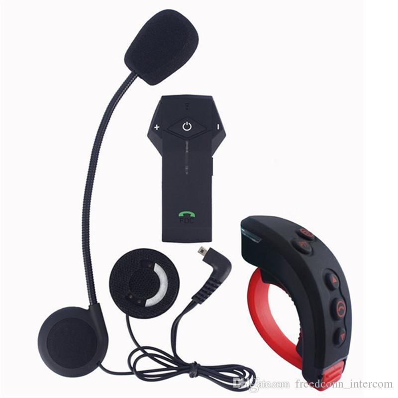 Freedconn 1000m bluetooth casque moto full-duplex interphone casque interphone BT interphone avec télécommande casque NFC FM interphone