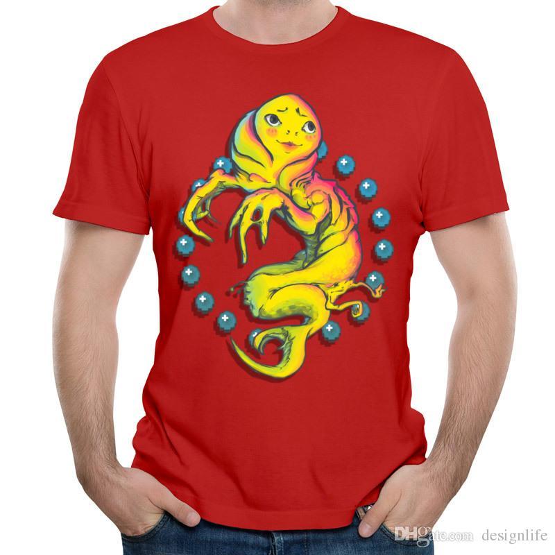 Unique monstre conception T-shirt carbone rouge garçon t-shirts à la mode d'été courts t-shirts pour hommes hommes manches courtes vêtements KISS ME